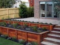 25+ best ideas about Wood retaining wall on Pinterest ...