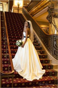 Bridal Portrait on Staircase at The Jefferson Hotel ...
