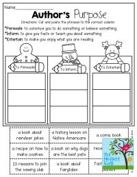 25+ best ideas about Authors Purpose Activities on ...