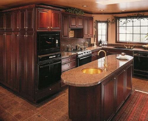 Images Of Rustic Mahogany Cabinets In Kitchens 1000+ Ideas About Cherry Wood Kitchens On Pinterest