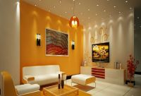 Fascinating Paint Colors For Living Rooms: Bright Orange ...