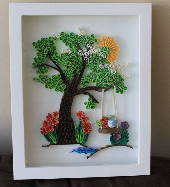 Quilled Scenery beautiful unique framed by