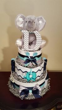 25+ Best Ideas about Elephant Diaper Cakes on Pinterest