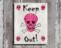 Keep Out Poster Teen Room Decor   Bedroom ideas ...