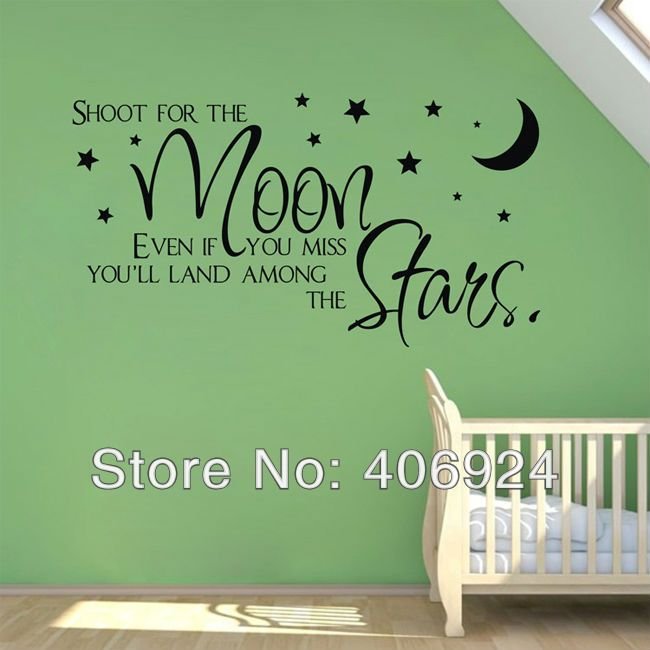 Shoot For The Moon Quote Wallpaper 29 Best Images About Nursery Wall Quotes On Pinterest