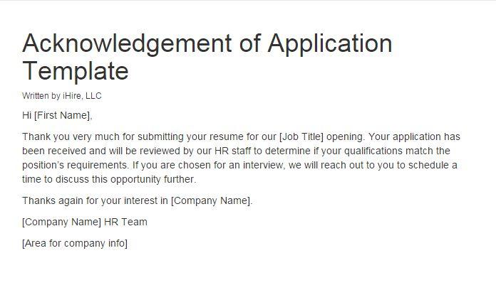 acknowledgement sample for resume