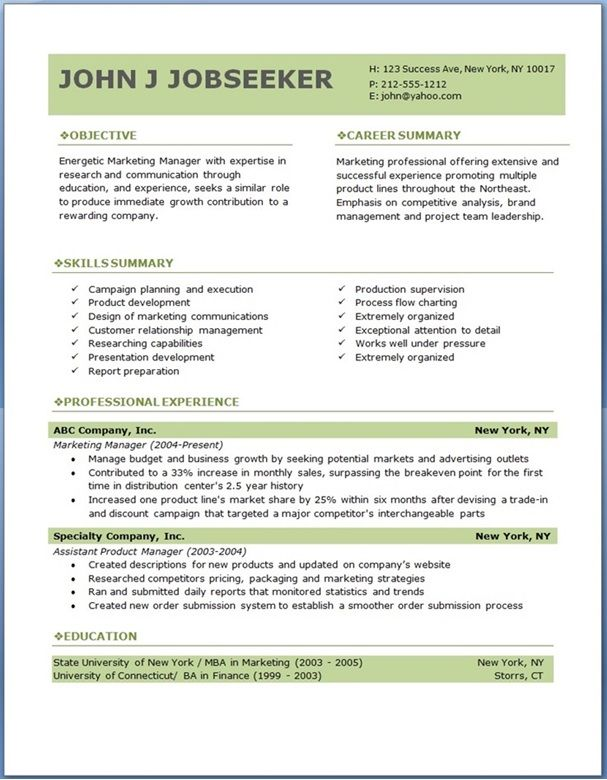 Microsoft Word Template Resume Template Resume Word Ten Great - resume builder microsoft word
