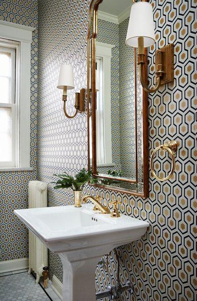 17 Best ideas about Bathroom Wallpaper on Pinterest | Bath powder, Powder room wallpaper and ...