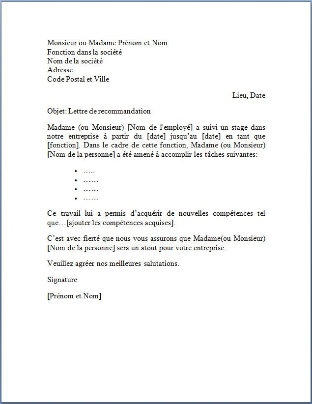 cv exemple chic