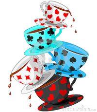 Alice in Wonderland Tea Party Clip Art | Tea Cups Pyramid ...