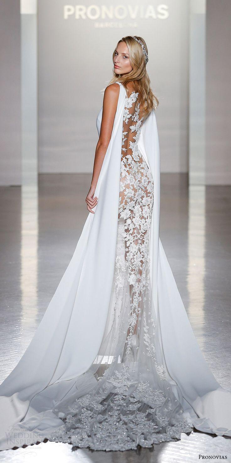 ideaslace wedding dresses wedding dress cape Atelier Pronovias Collection New York Bridal Fashion Show Highlights