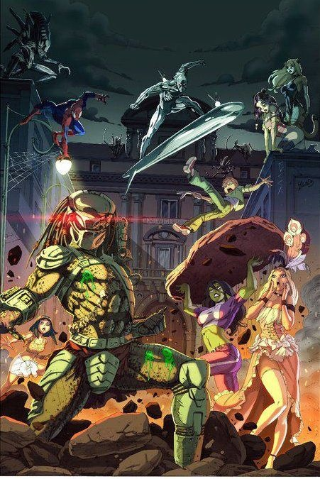 Zombies Animated Wallpaper Hd Marvel U Vs Predator Comics Crossover Pinterest