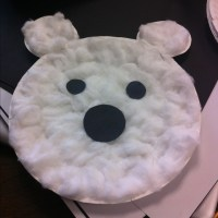 Polar Bear Paper Craft- used a paper plate with cotton ...