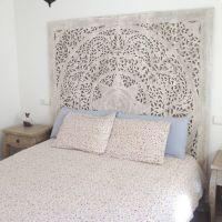 Large White Wash Headboard, 3D Wall Art Panel, Decorative ...