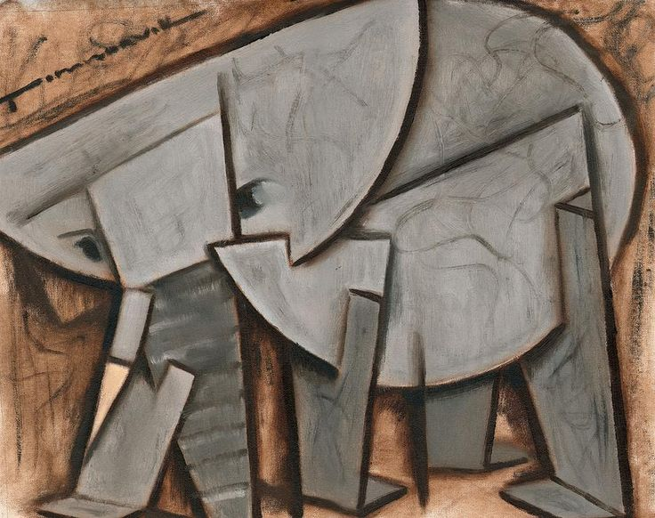 elephant painting abstract