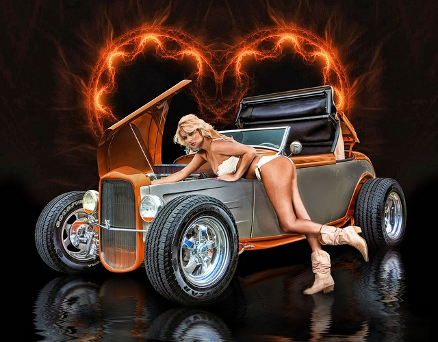 Street Racing Cars Wallpaper With Girls Heart On For You By Rat Rod Studios Via Flickr