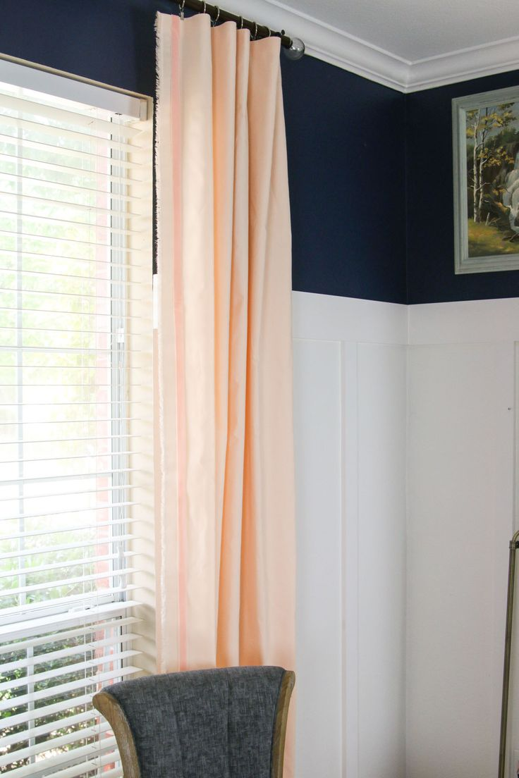one room challenge peach curtains windgate lane