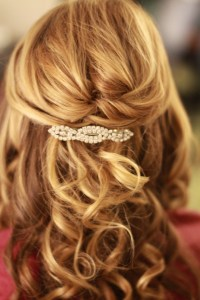 Half updo shoulder length hair | Wedding hair | Pinterest ...