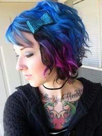 Blue, Purple and pink hair   Hair   Pinterest   Wedding ...