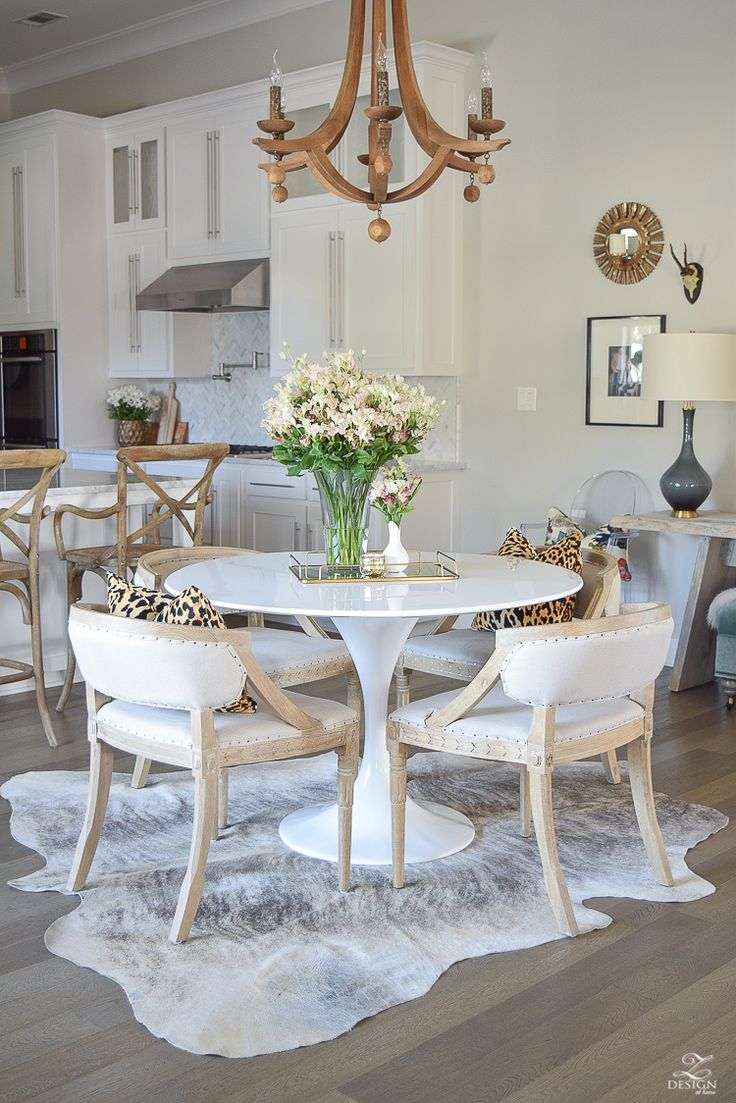 white cowhide rug rugs under kitchen table 25 Best Ideas about White Cowhide Rug on Pinterest Black beds Arranging bedroom furniture and White bed comforters