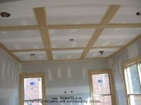 ceiling with 1x4 flat beams | ... , Trim and Cabinets in ...