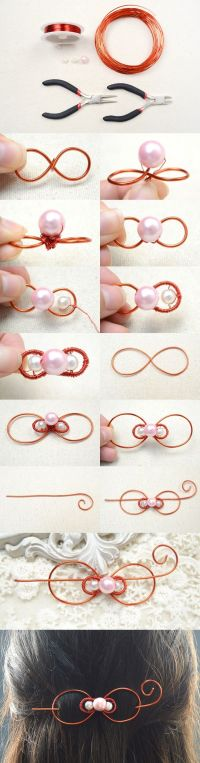 Tutorial on How to Make a Wire Bow Hair Clip for Wedding