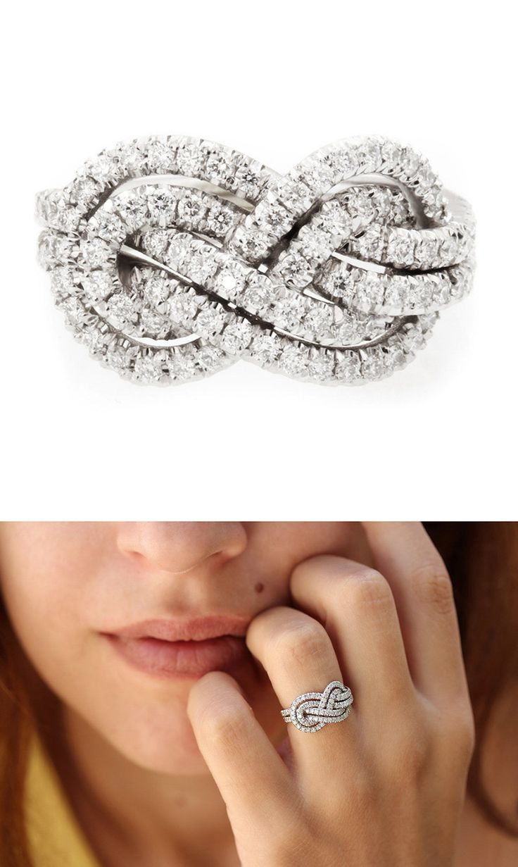 infinity ring engagement wedding ring for women Double infinity knot alternative wedding rings Women in Weddings Weigh in on Engagement Rings