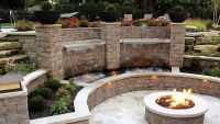 17+ best ideas about Concrete Block Retaining Wall on