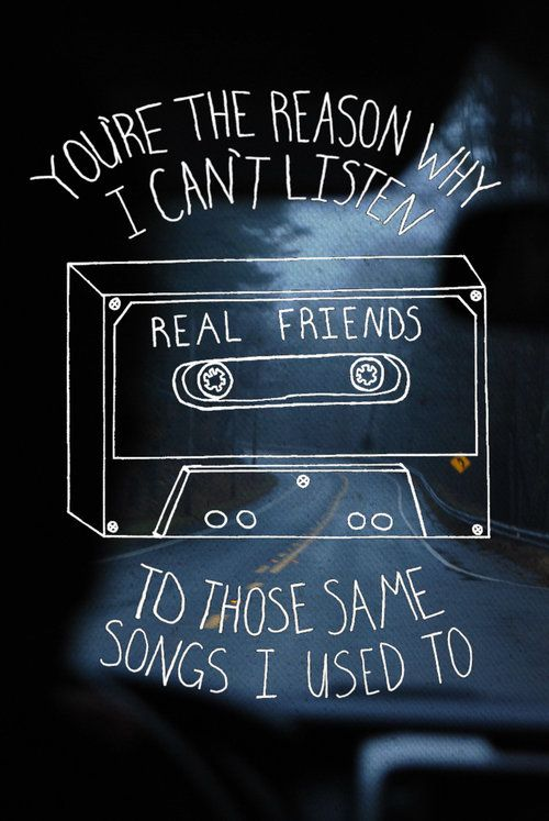 Fall Out Boy Logo Iphone Wallpaper Real Friends Lyrics Music Quotes Pinterest I Give