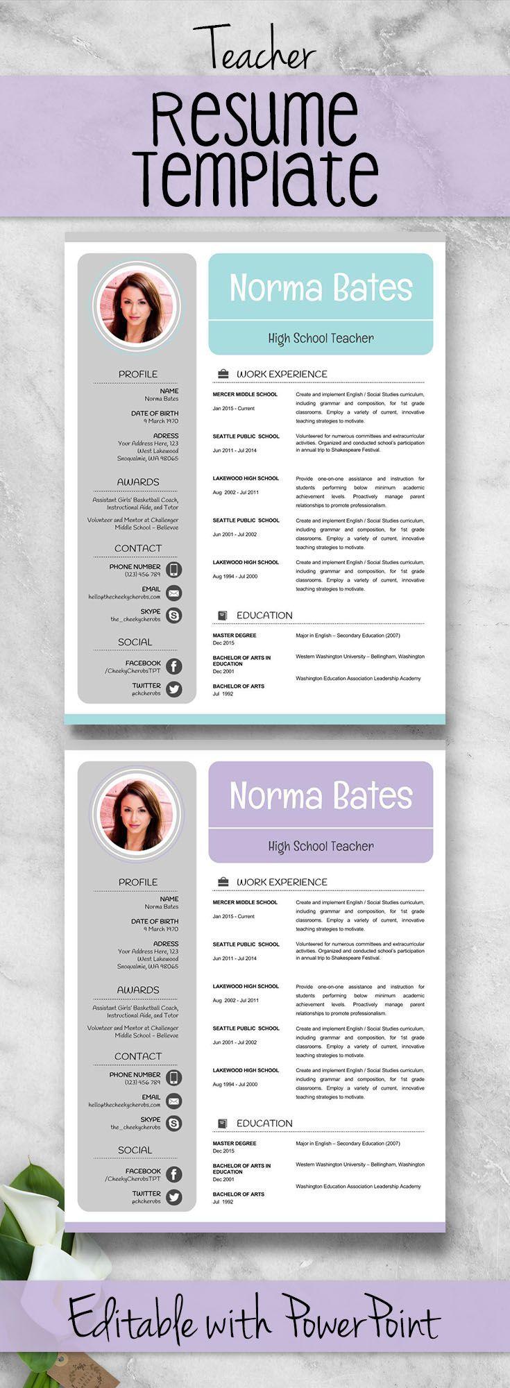 sample resume showing references
