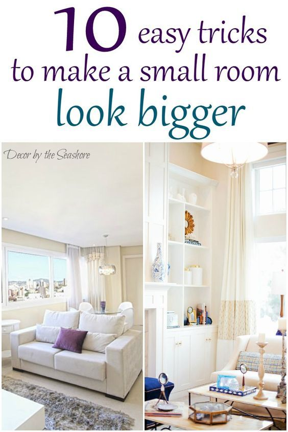 Make Small Living Room Look Bigger How To Make A Small Room Look Bigger | Small Homes, Home