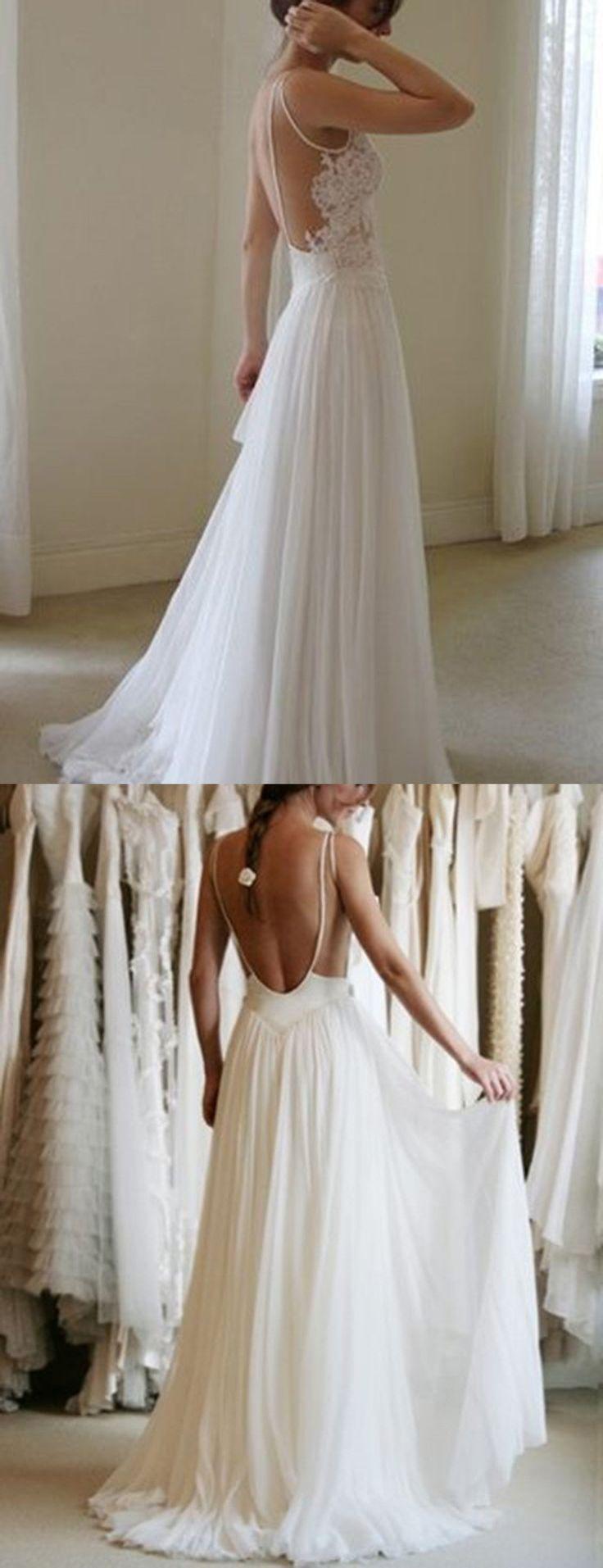 open back dresses backless wedding dress Modern Jewel Sleeveless Sweep Train Backless Wedding Dress with Lace