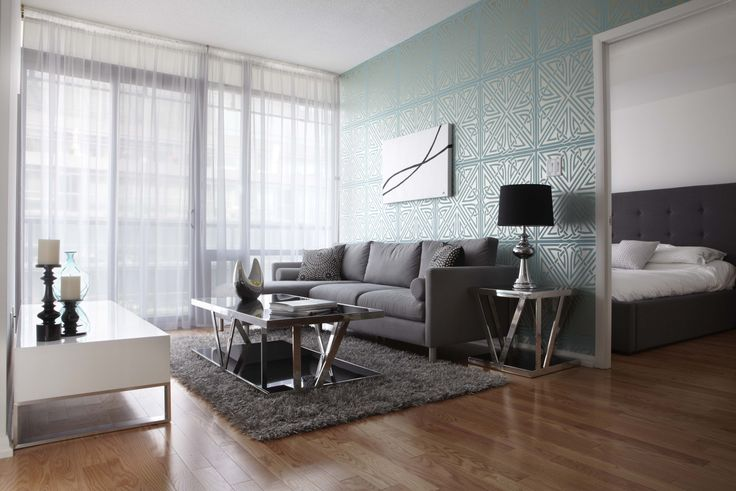 3d Geometric Wallpaper For Walls Contemporary Living Room With Turquoise Geometric
