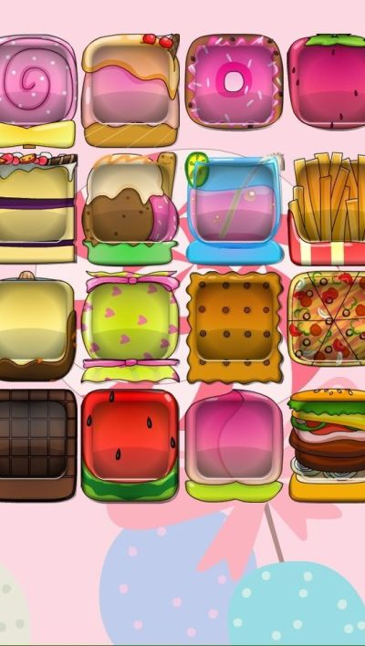 iPhone 5 wallpaper food boxes burger fries watermelon icecream margarita chocolate candy drink ...