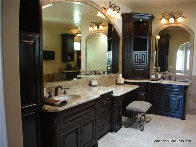 Like Light Floor And Counter Top With Dark Cabinet My