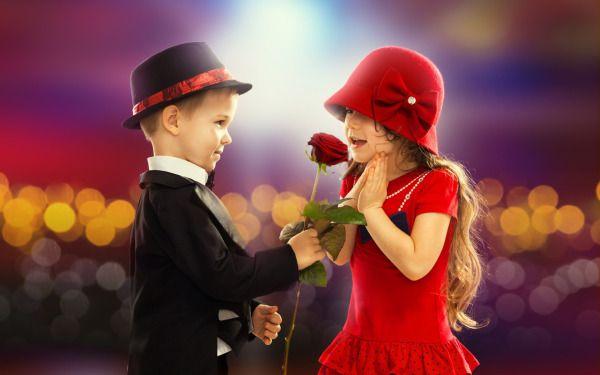 Boy Proposing Girl Hd Wallpaper Little Boy Gives Little Girl A Red Rose Wallpaper Hats