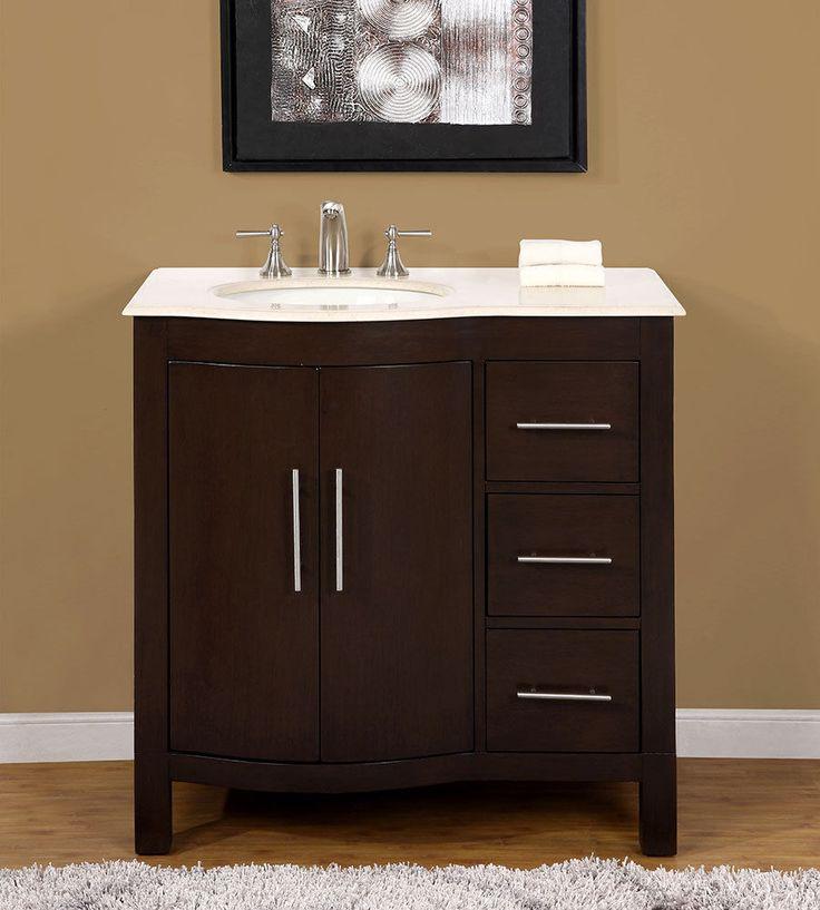 36quot 0912cm Marble Stone Top Single Bathroom Vanity