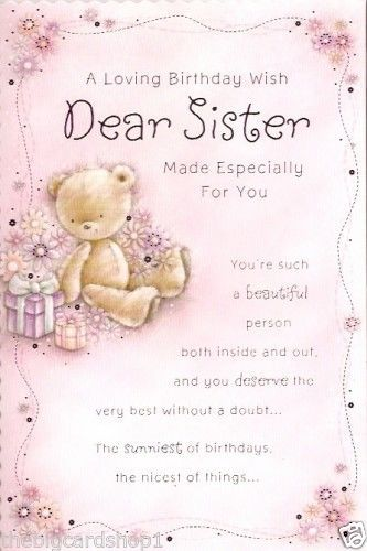 Birthday Wishes For Sister By Heart Pinterest • The World's Catalog Of Ideas