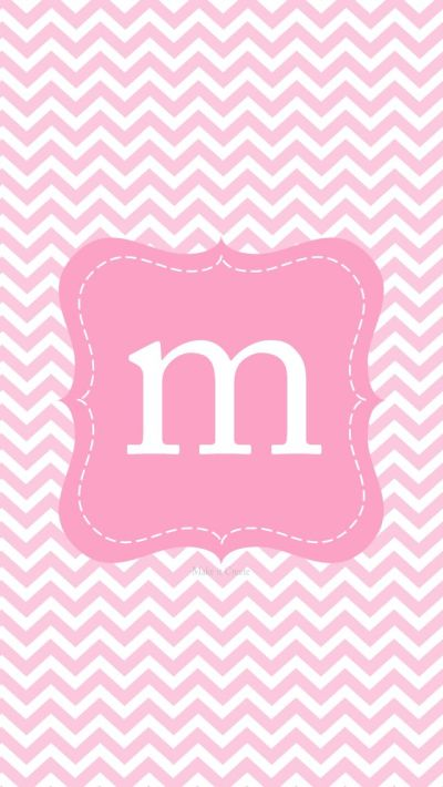 M monogram pink iphone wall | iPhone Wallpapers & Themes | Pinterest | Pink, Monograms and M ...