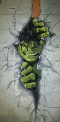 Hulk wall mural for superhero fans!   Boys Room ...