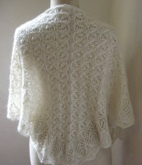 Hand Knit Shawl Ivory off White Victorian Lace Knit by ...