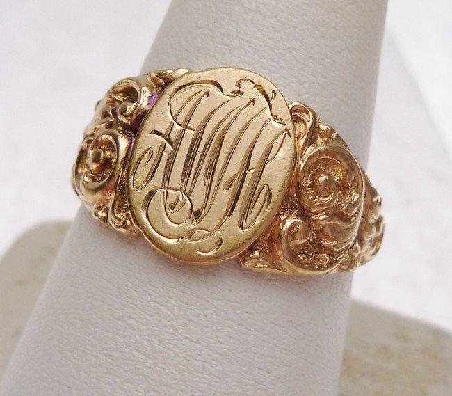rose gold monogram earrings