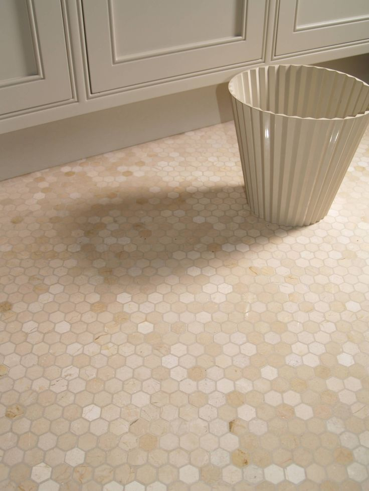 Mosaik Fliesen Küche Boden Crema Marfil Hexagon #marble #mosaic Love The Color Of The