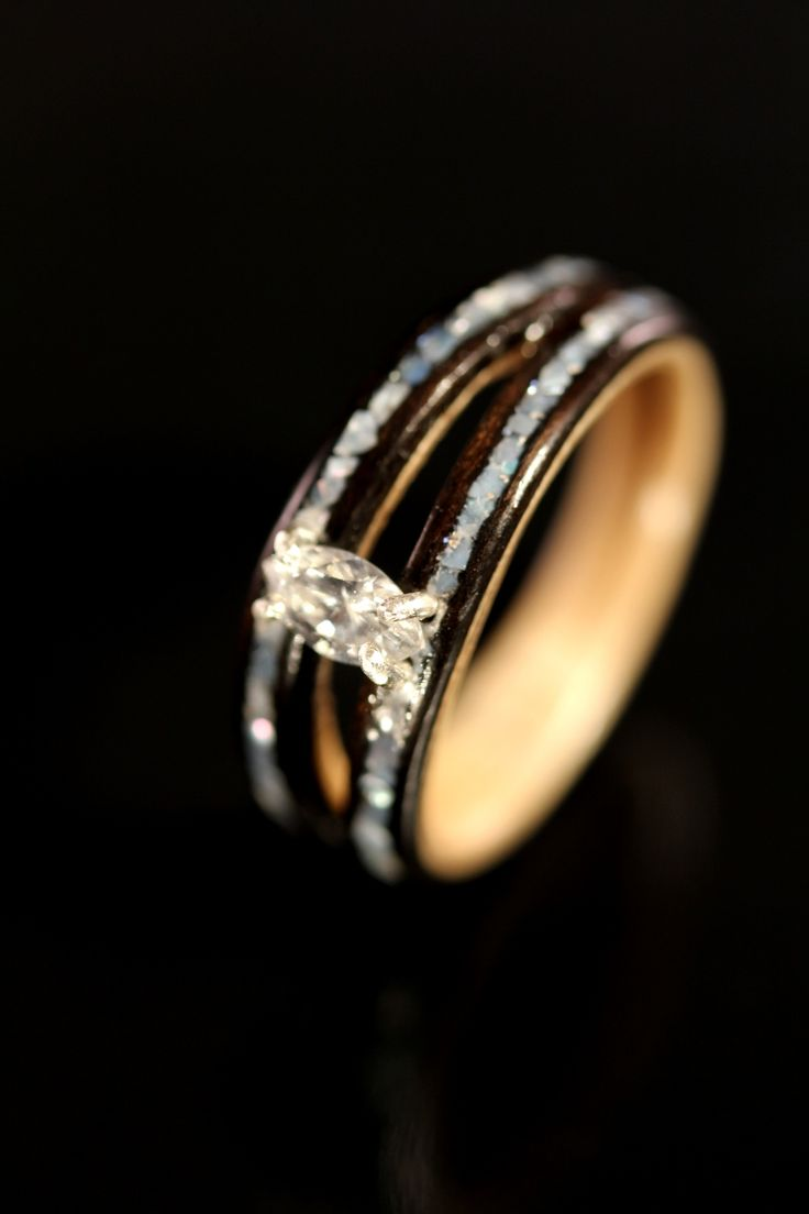 wood engagement ring pagan wedding rings How to Determine the Design of Wooden Wedding Rings diamond wooden wedding rings