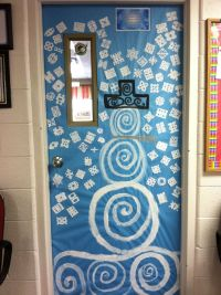 Snowflakes and snowman door decoration idea by WHCA ...