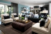 "brown cream taupe blue living room | Download ""Brown Black ..."