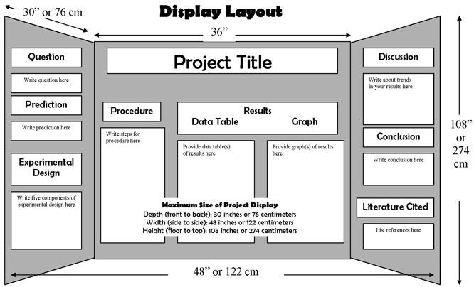 science fair project poster board layout