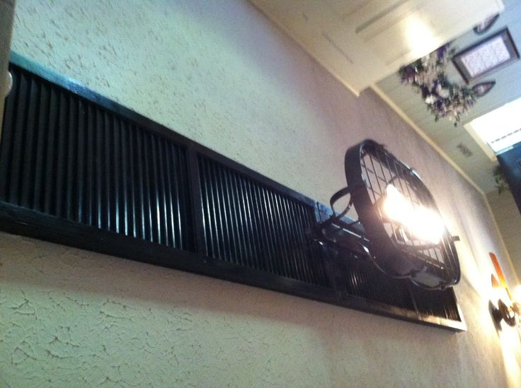 Repurposed Shutters To Cover Holes In Ceiling And Hang New Light Fixture From Ideas For Home