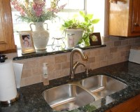 Window sill to match countertop - waterproof - nice touch ...