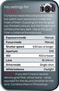 Best camera settings for sunsets (free photography cheat ...